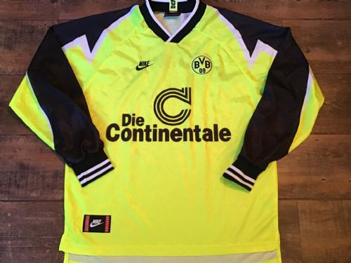 1995 1996 Borussia Dortmund L/s Football Shirt XL